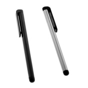 GTMax 2 X Universal Stylus Pens for HP TouchPad Tablet ; iPad/Itouch/Iphone/Touchscreen devices 2x Pens, 1 Silver 1 Black