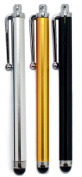 24/7 Cases 3 pcs Gold, Silver, Black Capacitive Stylus/Styli Touch Screen Cellphone Tablet Pen for iPhone 5, iPad 4 & 5 iPad Mini, for for for for for for for for for Samsung Galaxy S3 & S4
