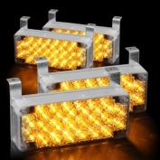 koolertron 88 LED Flashing Emergency Strobe Lights for Front Grille/Deck ,Amber