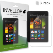 INVELLOP ANTI-GLARE 3-pack Screen protectors for Kindle Fire HDX 7 18cm