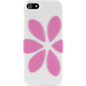 Agent18 P5FV/WC x FlowerVest Cover for Apple iPhone 5 - 1 Pack - Retail Packaging - White/Pink