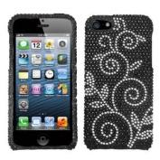 Asmyna IPHONE5HPCDM182NP Luxurious Dazzling Diamante Bling Case for iPhone 5 - 1 Pack - Retail Packaging - Dark Wonderland