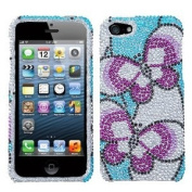 Asmyna IPHONE5HPCDM144NP Luxurious Dazzling Diamante Bling Case for iPhone 5 - 1 Pack - Retail Packaging - Nifty Butterfly