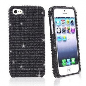 Asmyna IPHONE5HPCDMS003NP Luxurious Dazzling Diamante Bling Case for iPhone 5 - 1 Pack - Retail Packaging - Black