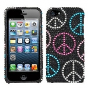 Asmyna IPHONE5HPCDM135NP Luxurious Dazzling Diamante Bling Case for iPhone 5 - 1 Pack - Retail Packaging - Peace