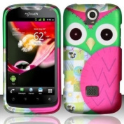 [The Three Knights] for Huawei Mytouch Q U8730 (T-mobile) Rubberized Design Cover - Owl Design