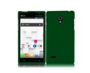Dark Green Hard Case Snap On Rubberized Cover For LG Optimus L9 P769