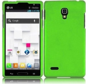 Neon Green Hard Case Snap On Rubberized Cover For LG Optimus L9 P769