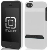 Incipio iPhone 5s Wallet Case, [STASHBACK] Credit Card Wallet Case fits iPhone 5, iPhone 5s, and iPhone SE - Retail Packaging - White/Grey