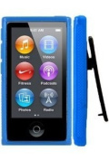 Importer520 Belt Clip TPU Rubber Skin Case Cover for Apple iPod Nano 7th Generation 7G 7