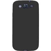Amzer AMZ93951 Silicone Jelly Skin Fit Case Cover for Samsung GALAXY S III GT-I9300 and for Samsung Galaxy S 3 I9300 - Retail Packaging - Black