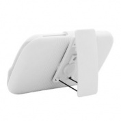 Aimo Wireless HTCAMAZEPCBEC008 Shell Holster Combo Protective Case for HTC Amaze 4G/Ruby with Kickstand Belt Clip and Holster - Retail Packaging - White