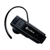 Cobra Premium Bluetooth Headset with Both In-the-Ear and Ear Hook Options - Bluetooth Headset - Retail Packaging - Black