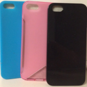 iBRIGHT iPhone 5 Cases- pack of 3 cases Black, blue, and Pink
