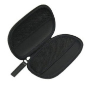 OEM Blackberry Premium Zippered Leather Carry Case / Pouch for use to store Wired Headset HDW-13019-001, HDW-14322-001, HDW-15766-005, ASY-15765-001, HDW-16904-001. HDW-16904-003, HDW-16907-001, HDW-16907-003