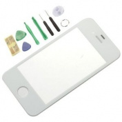 Generic Replacement Front Screen Glass Lens Cover for iPhone 4S White