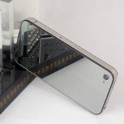 [Aftermarket Product] Full Back Cover Glass Mirror Housing,Back Glass Battery Door, Replacement back housing without Flash Diffuser, Chrome Ring and interior Frame + free screwdriver only For iPhone 4 ATT.(Not Fit Verizon/sprint Iphone 4,Not Fit Iphone ..