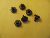 3pcs Black Headphone Jack Covers Seal Screw Caps for Iphone 4 & 4S Lifeproof Case