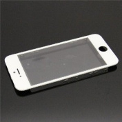 ePartSolution- iPhone 5 Front Glass Outer Lens Touch Screen Cover With Frame Bezel(White) Replacement Part USA Seller
