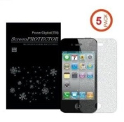 PowerDigital(TM) 5 Pack Diamond Sparkling Glitter Screen Protector for iPhone 5 5G LTE with Lint Cleaning Cloth