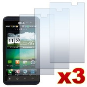 3 Pack Premium Crystal Clear LCD Screen Protectors for LG Optimus 3D P920/Thrill P925