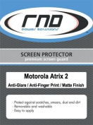 RND 3 Screen Protectors for Motorola Atrix 2 (Anti-Fingerprint/Anti-Glare - Matte Finish) with lint cleaning clothes
