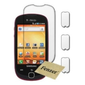 3 Pack Fenzer Clear Screen Protectors for for for for for for for for for for for Samsung Gravity Smart SGH-T589 Cell Phone Transparent LCD Touch Screen Film Guard Cover Shields with Cloth