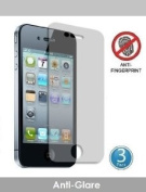 PowerDigital(TM) Anti-Glare Screen Protector for iPhone 4 / 4S with Lint Cleaning Cloth (Retail Packaging) - 3 Pack