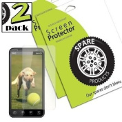 Spare Products Screen Protector Film for HTC EVO 3D - 2 Pack - Retail Packaging - Anti-Glare