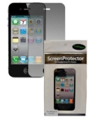 CrazyOnDigital 3 Anti Glare Screen Protectors for Apple iPhone 4G