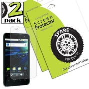 Spare Products Screen Protector Film for LG Optimus 2X/G2x - 2 Pack - Retail Packaging - Diamond