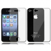 5x Anti-Glare Premium Screen Protector for iPhone 4. Full Body - Front and Back. Fingerprint Resistant