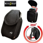 Nite Ize Heavy Duty for for for for for for for for for Samsung Rugby a837 & Rugby 2 a847 Cargo Wallet Vertical Medium Nylon Storage Case with hook and loop Closure. Inside Extra Storage Pocket for Licence, Cash and Credit Cards. Has a Sup