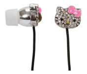 Hello Kitty Bling Earbuds - Silver