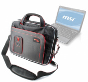 DURAGADGET Water Resistant Laptop Compartment Bag / Carry Case / Briefcase With Multiple Storage Pockets And Shoulder Strap For MSI U270 29cm , U230, U250 31cm & X370 34cm