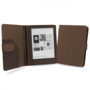 Cover-Up Kobo Aura HD Tablet (17cm ) Natural Hemp Cover Case With Auto Sleep / Wake Function (Book Style) - Cocoa Brown