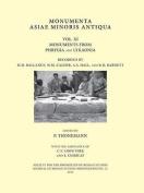 Monumenta Asiae Minoris Antiqua, Volume XI
