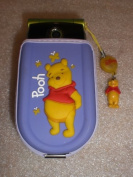 3-D Pooh Cell Phone Case Pouch w/ Flashing Charm Strap