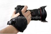 Ardinbir Leather Hand Wrist Grip for for Canon, Nikon, Panasonic, Olympus, Sony, Pentax, Leica, Fujifilm SLR DSLR Camera