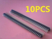 10PCS 2.54mm 2 x 40 Pin Male Double Row Pin Header Strip