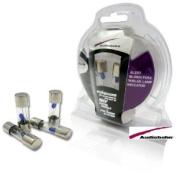 AGU4B - Audiobahn 4 Pieces AGU 4 Amp Fuse Pack with Blown Fuse Blue Lamp Indicator