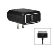 PureGear 20-012-00629 2.1 AMP Universal Travel Charger with Single USB Port for iPhone, iPod, iPad, Black - Retail Packaging - Black