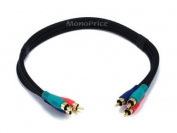 0.5m 22AWG 3-RCA Component Video Coaxial Cable (RG-59/U) - Black [Electronics]