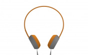 Coloud Knock On-Ear Headphones, Grey/Orange