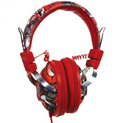 Marc EckoThe Exhibit On Ear Stereo Headphones with In-Line Microphone - Red