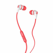 Skullcandy Riot Inkd 5.1cm -Ear Earphones Headphones with Handsfree Mic 1 White/Coral/White [Special Edition]