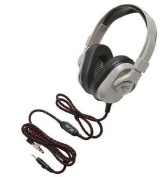 Califone HPK-1540 Washable Titanium Series Headphone with Guaranteed for Life Cord, 3.5mm plug with 1/4-Inch adapter