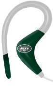 iHip NFSE82NYJ NFL Sport Ear Buds with In-Line Microphone - New York Jets Green/White
