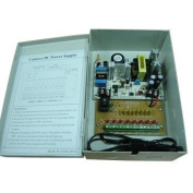 8 Channels 12V DC Regulated Distributed Power Supply panel individually fused 13 AMP Total Output, 1.85 AMP Output per Channel plus PTC Reset-able Fuse