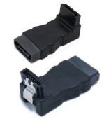SATA 7-Pin Male to SATA 7-Pin Female Adapter, 90 degrees